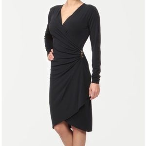MICHAEL KORS navy blue wrap dress